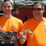 2016 Largest Crab Contest Winners Mark Wolf and Mark A. Wolf of Claymont, DE