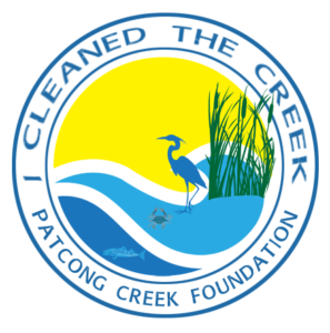 """Patcong Creek Foundation's """"I Cleaned the Creek"""" decal"""