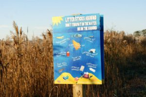 Patcong Creek Foundation Litter Prevention Sign