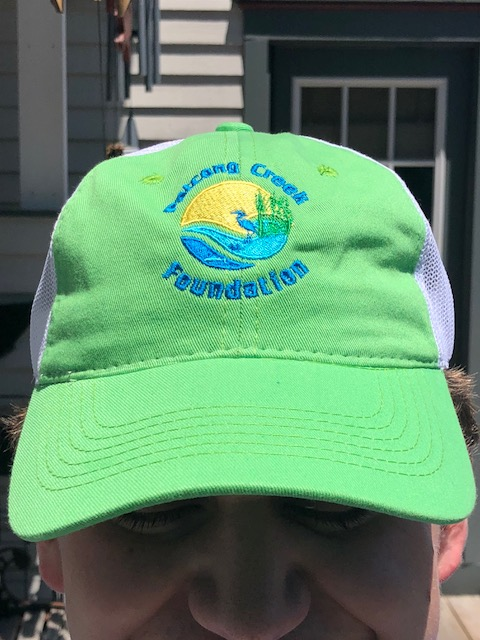 6bce8f875ee60 NEW! Patcong Creek Foundation ball cap – bright green w soft white mesh  back